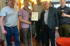 21 May 2018 OLC Staff display Bromley CAMRA Club of Year Certificate